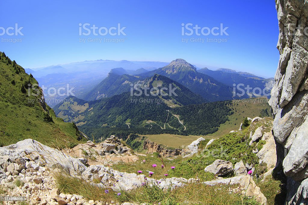 Chartreuse mountain range in summer stock photo