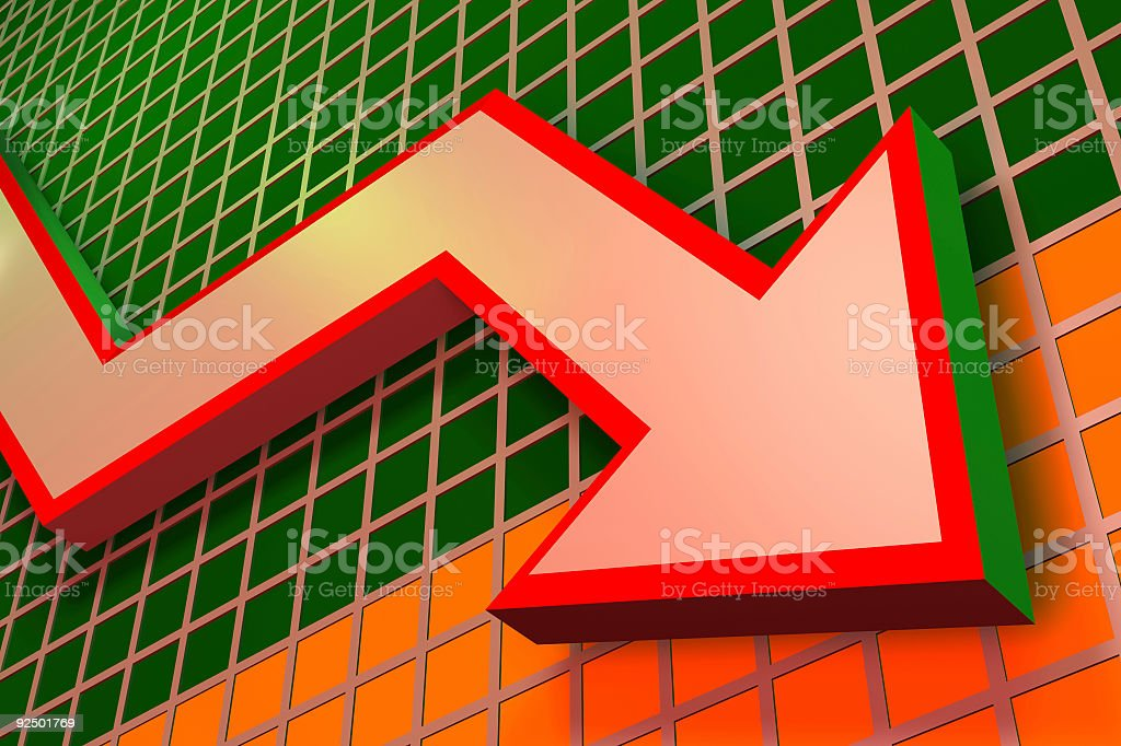 Charts and graphs Downward stock photo