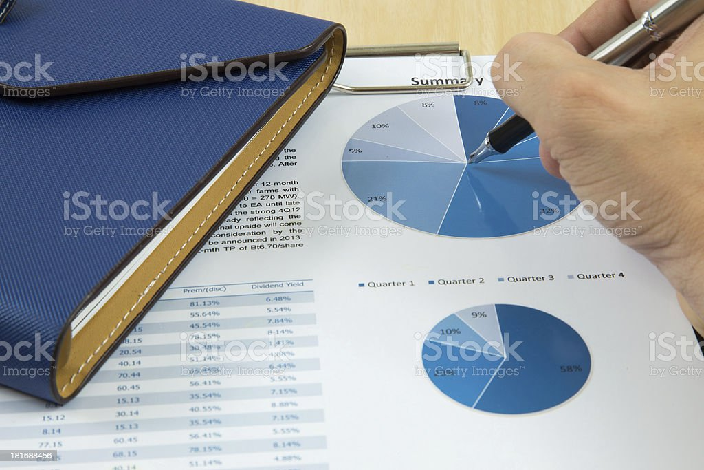 Charts and graphs of sales royalty-free stock photo
