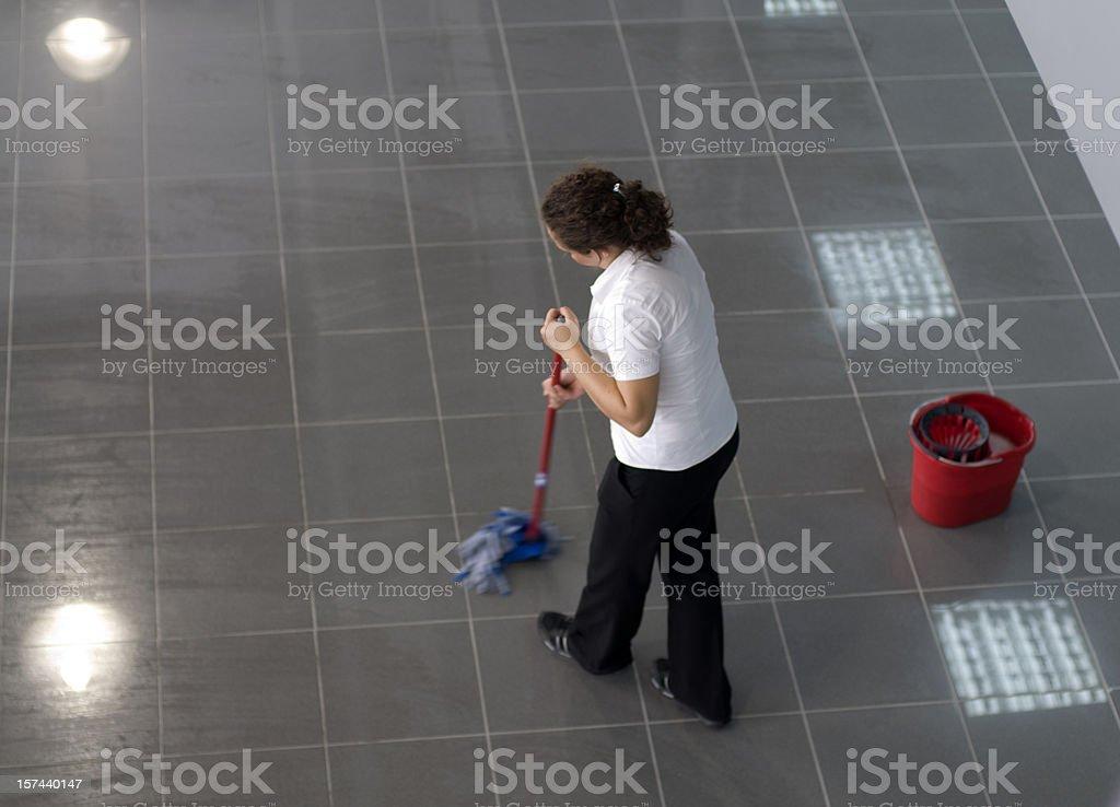 charwoman stock photo