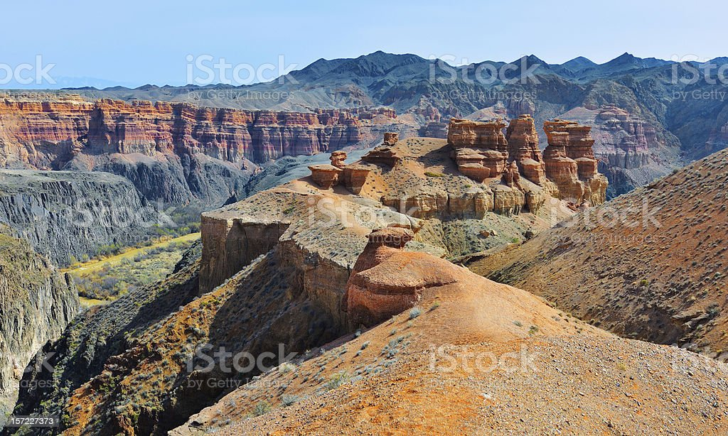 Charyn Canyon in Kazakhstan stock photo