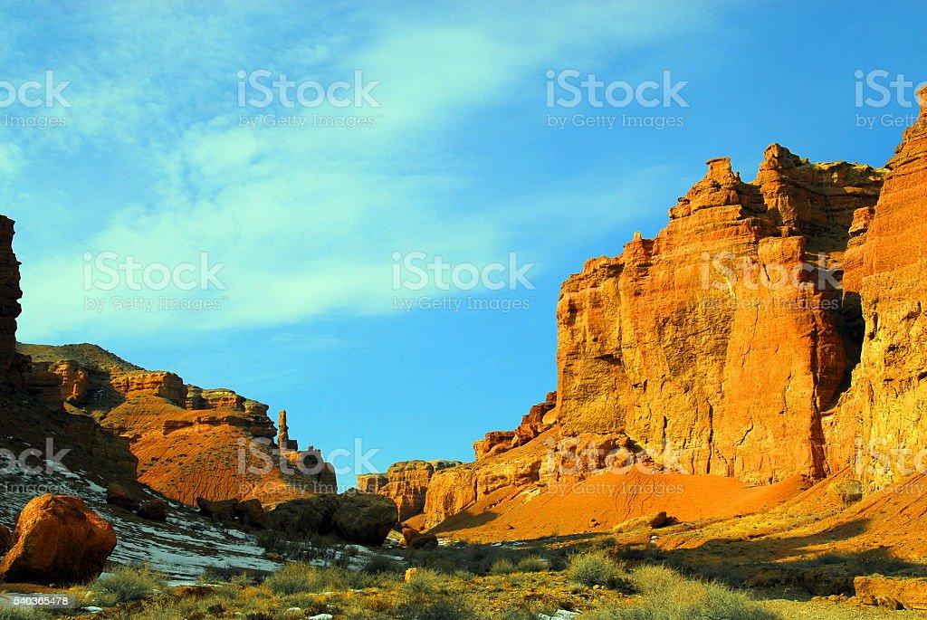 Charyn Canyon, Kazakhstan, Central Asia stock photo