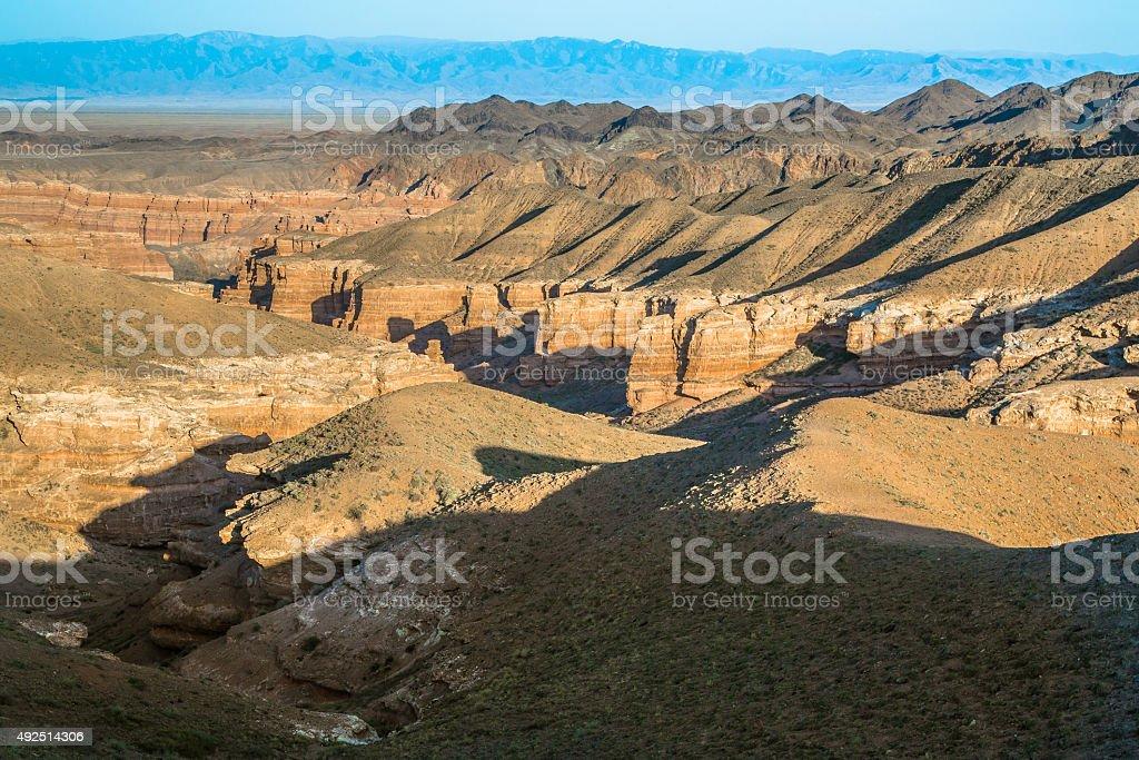 Charyn Canyon stock photo
