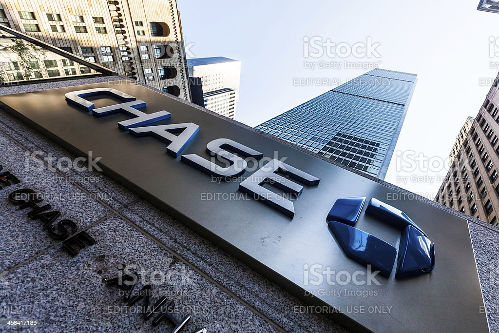 Chase Bank in New York City, USA royalty-free stock photo