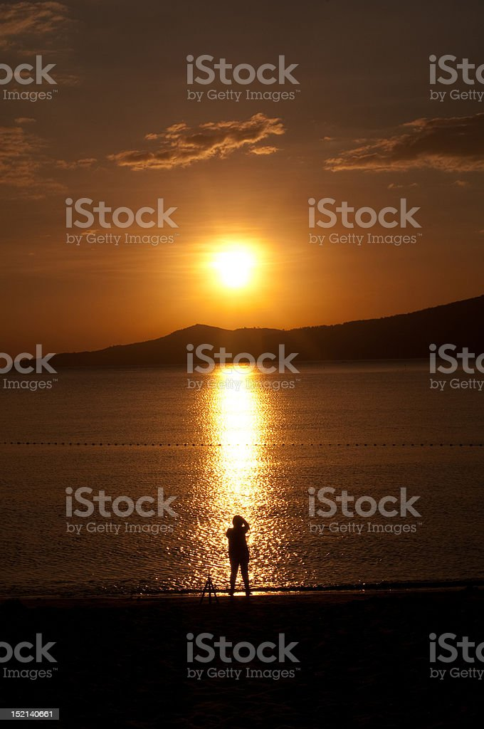 Chasing the Light royalty-free stock photo
