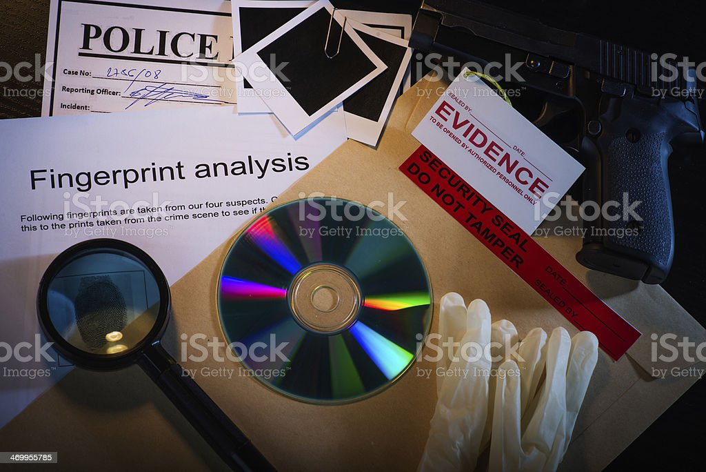 Chasing the murderer stock photo