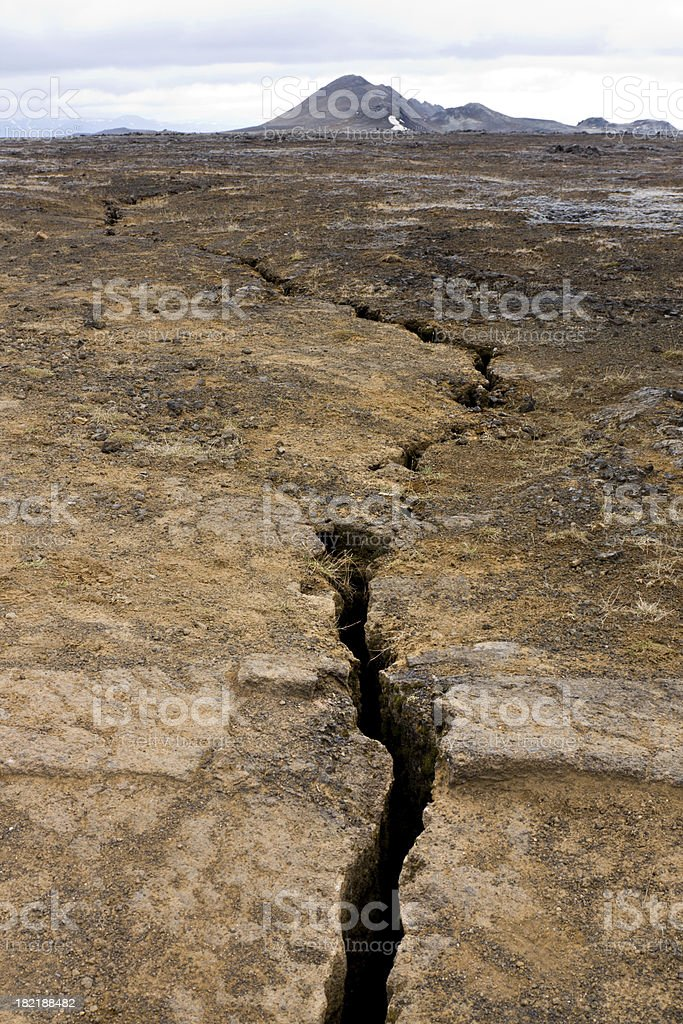 Chasm In The Earth stock photo