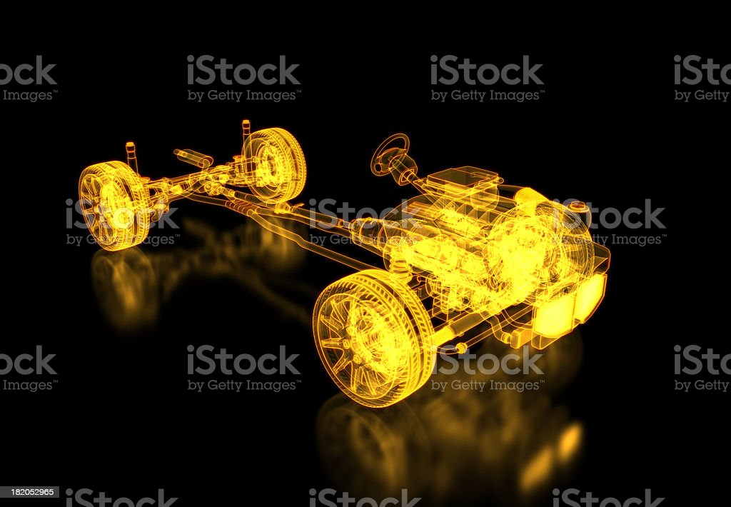 Chassis X-ray / Blueprint royalty-free stock photo