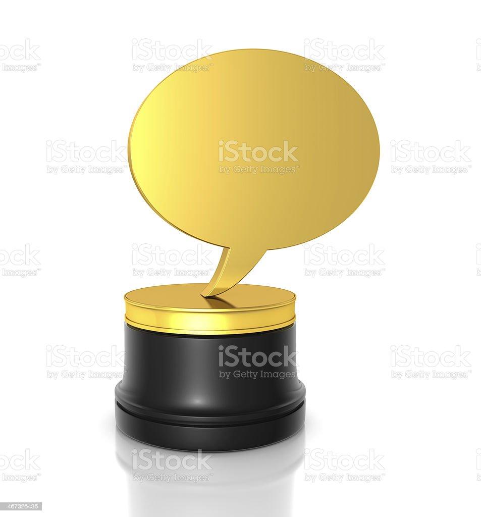 Chat Award royalty-free stock photo