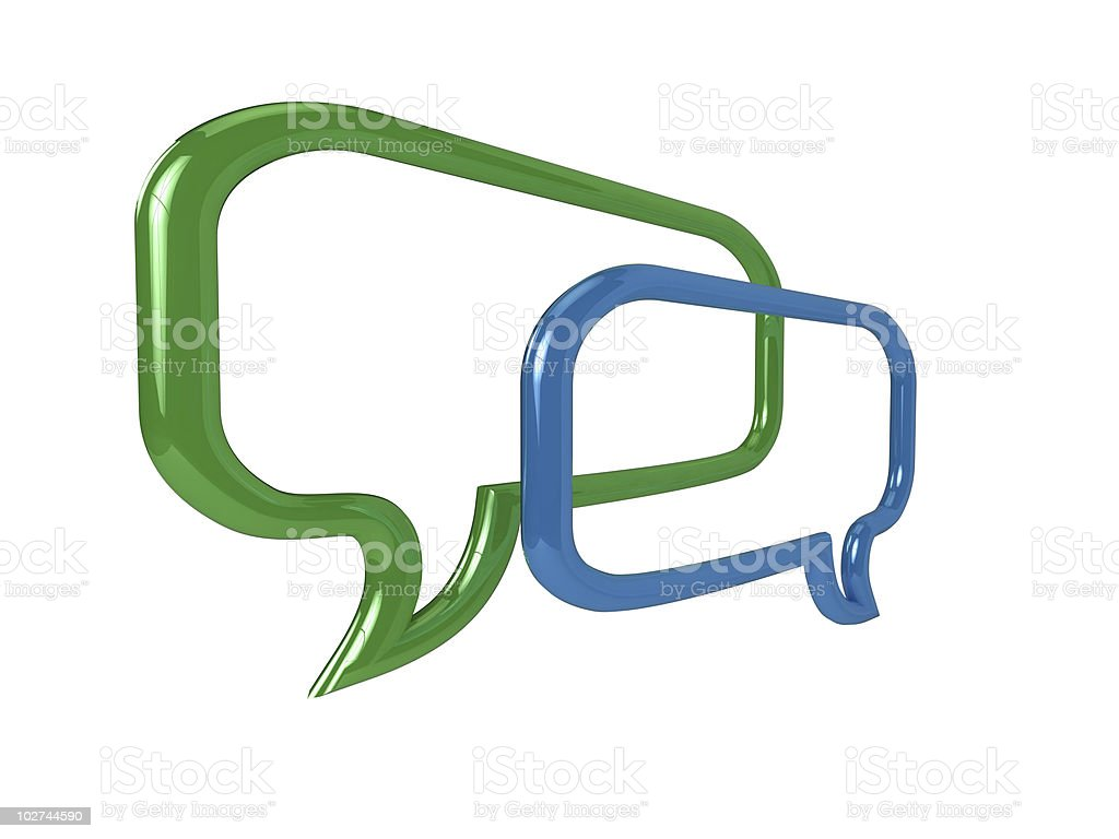 3D chat bubbles royalty-free stock photo