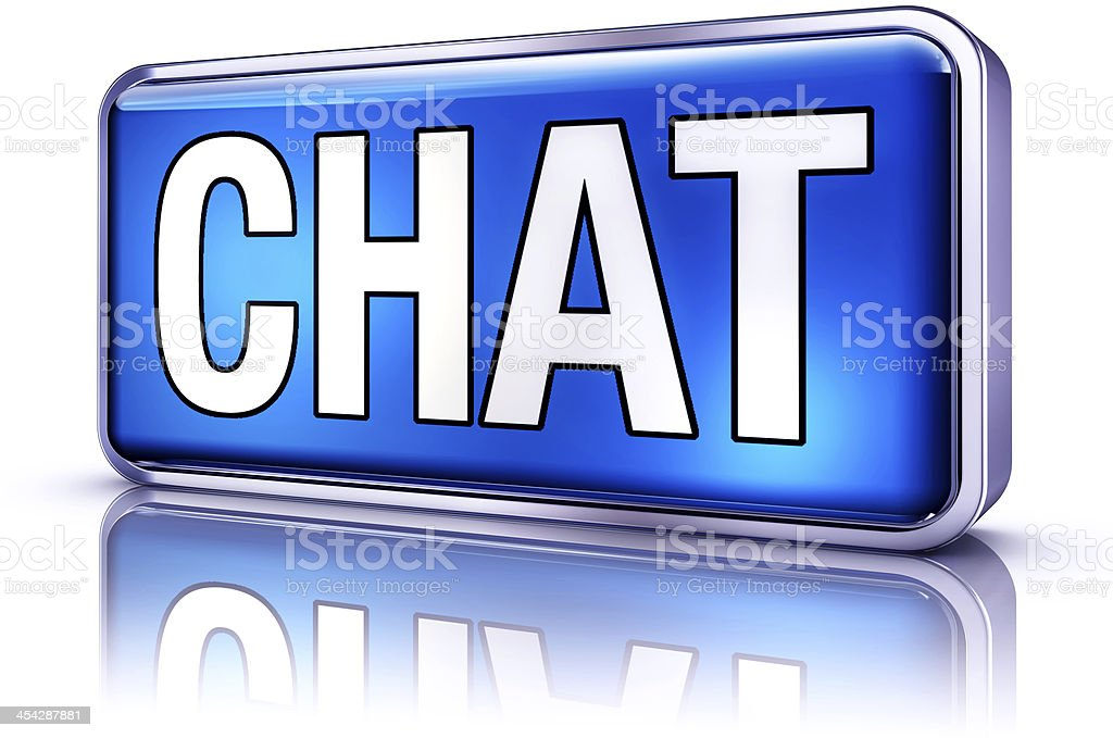 chat icon stock photo