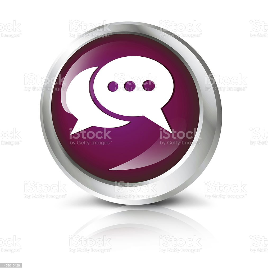 Chat icon royalty-free stock photo