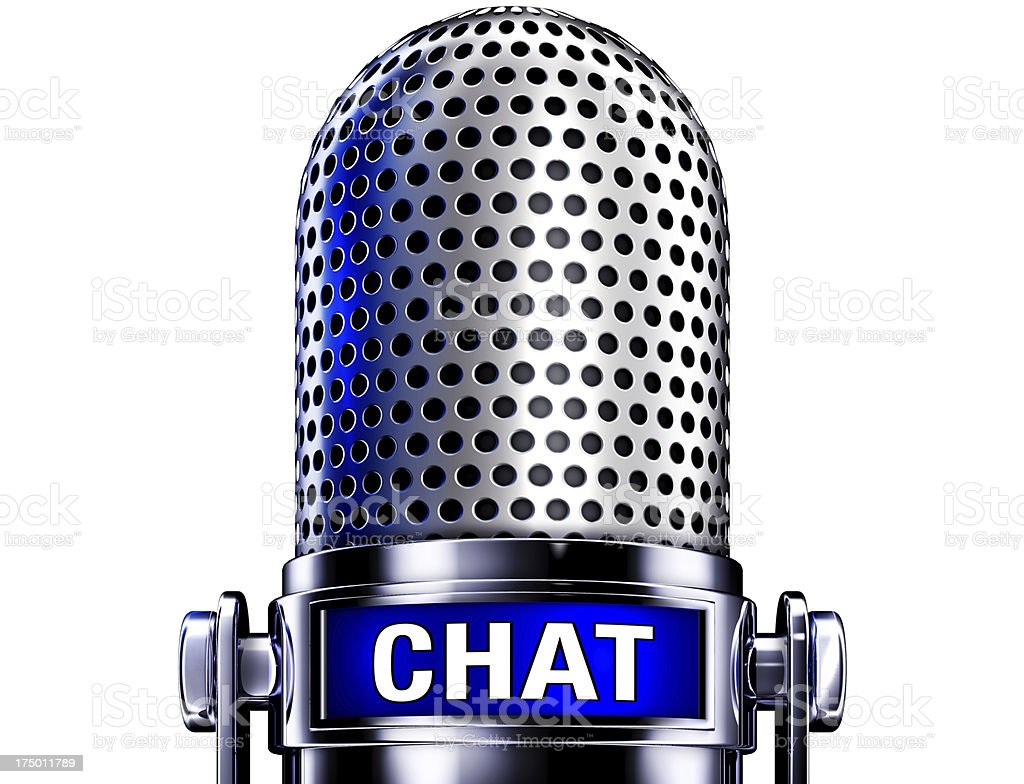 chat microphone royalty-free stock photo