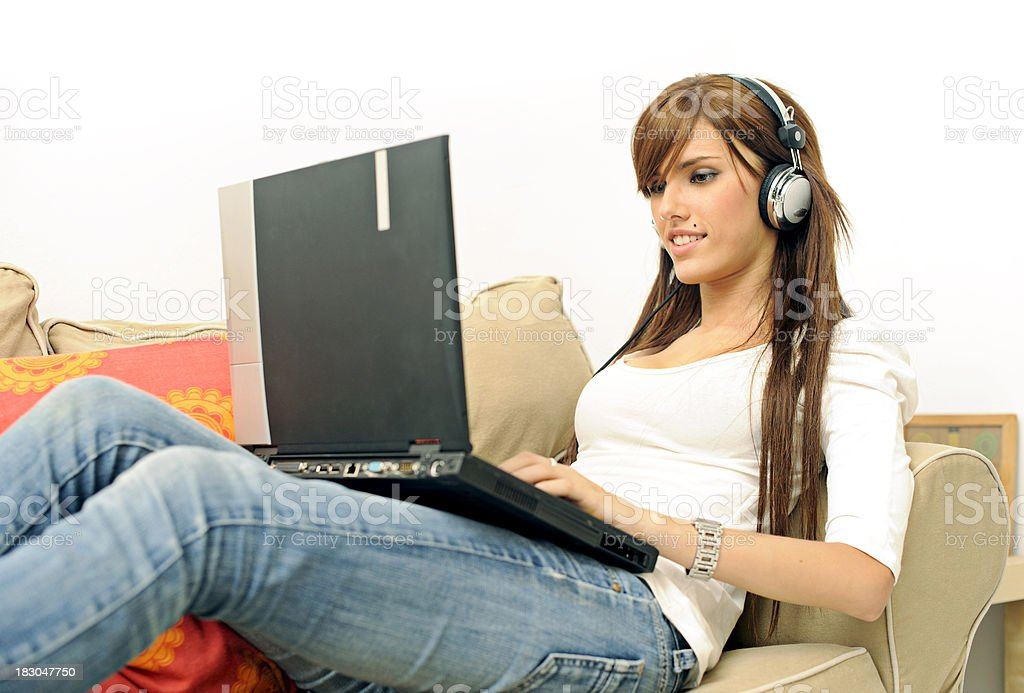 chat with headphones royalty-free stock photo