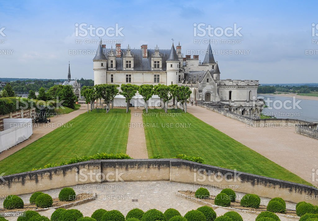 Chateau Amboise castle stock photo