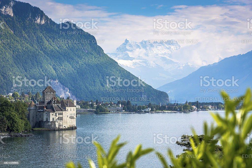 Chateau Chillon, Montreux, Switzerland stock photo