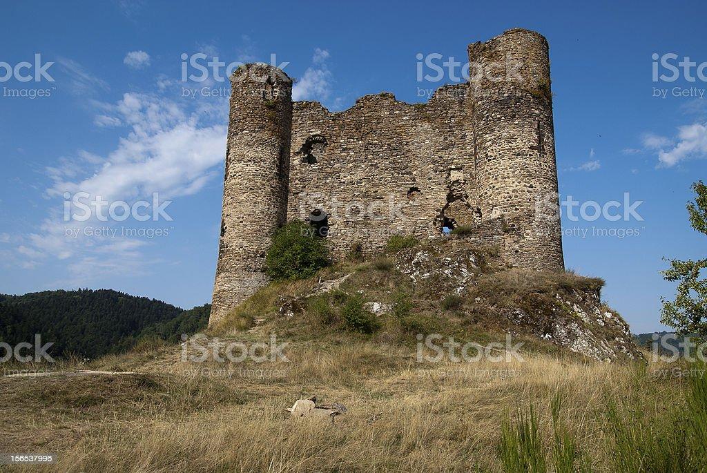 Chateau d'Alleuze stock photo