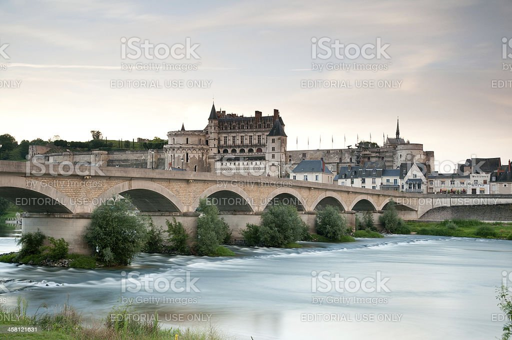 Chateau de Amboise in Loire valley stock photo
