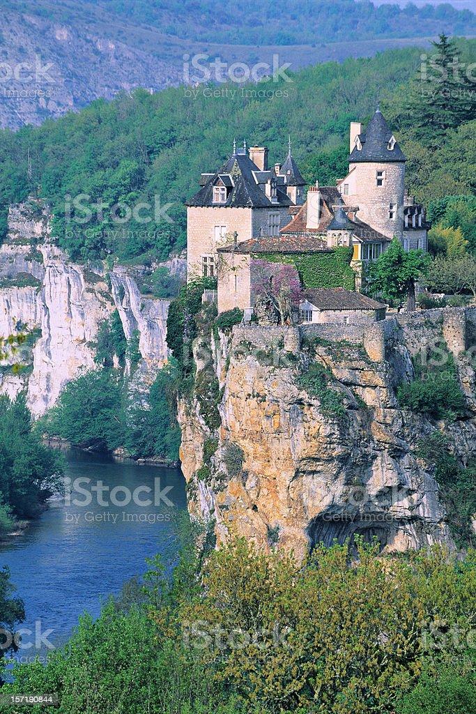 Chateau de Belcastel royalty-free stock photo