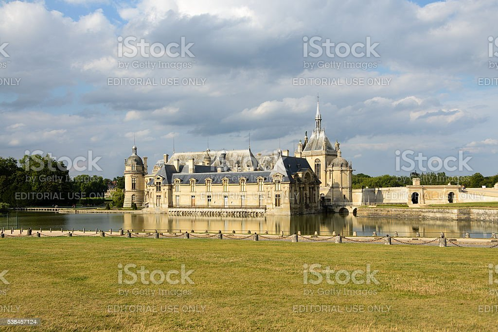 Chateau de Chantilly, France stock photo