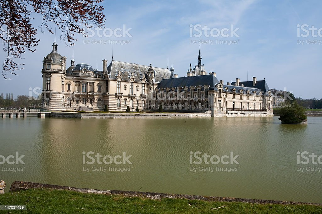 Chateau de Chantilly stock photo