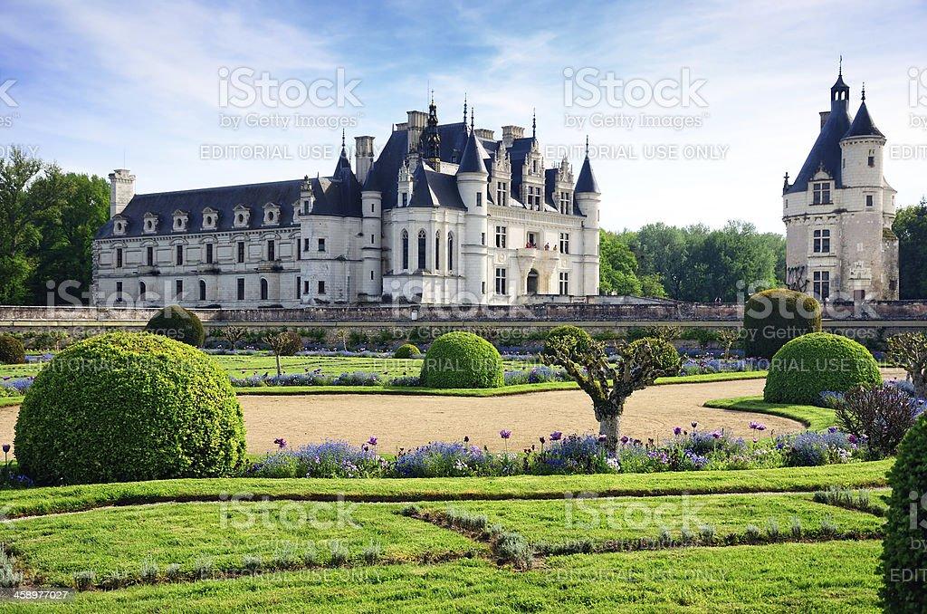 Chateau de Chenonceau stock photo