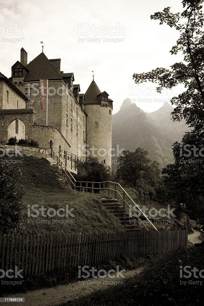 Chateau de Gruyeres royalty-free stock photo