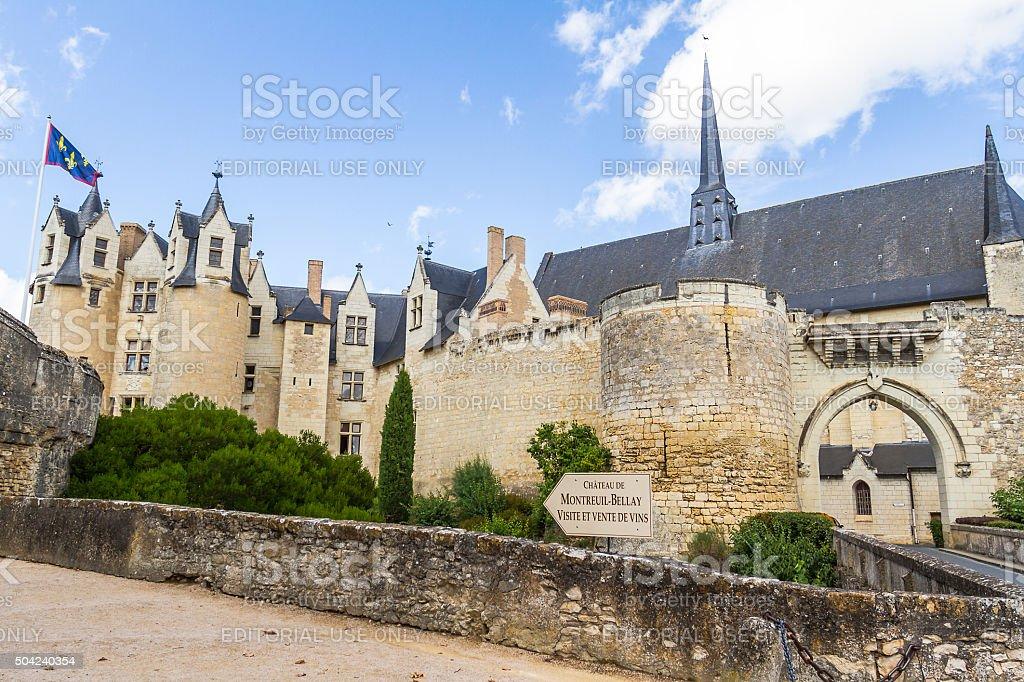 Chateau de Montreuil-Bellay - France stock photo