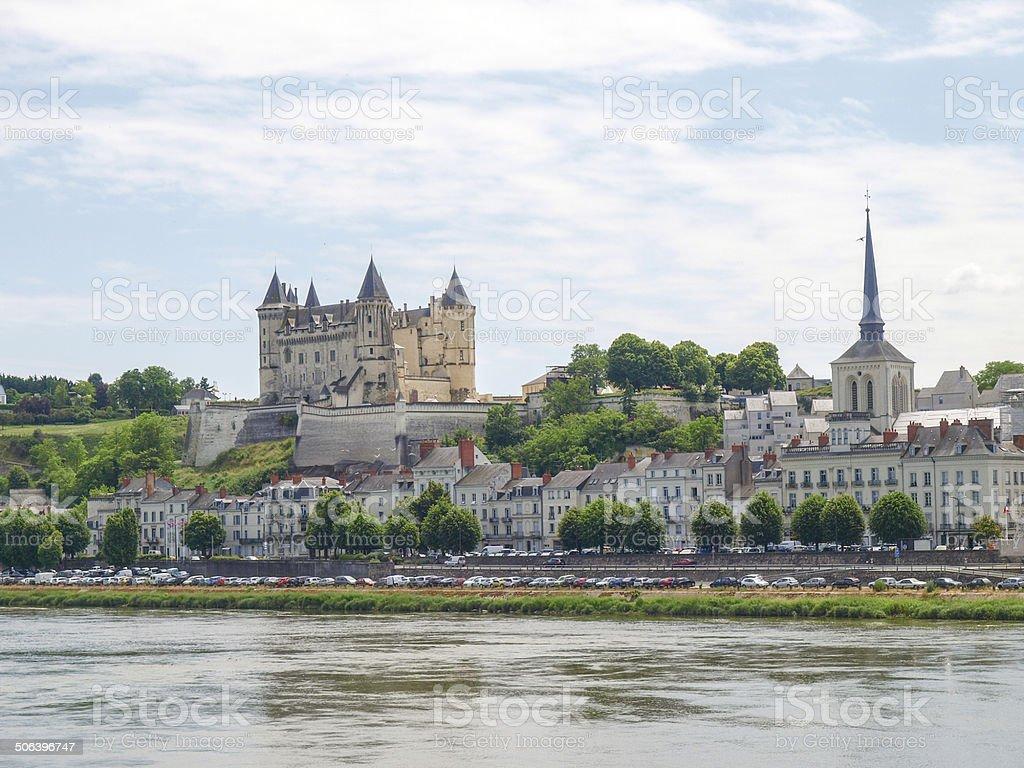 Chateau de Saumur stock photo