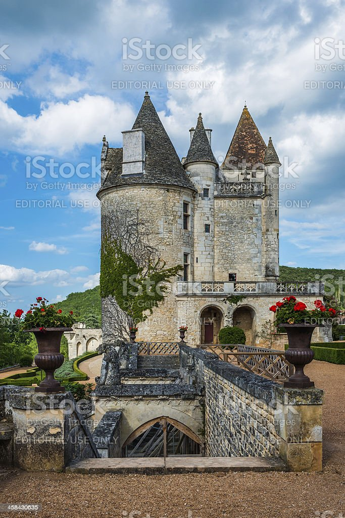 Chateau des Milandes stock photo