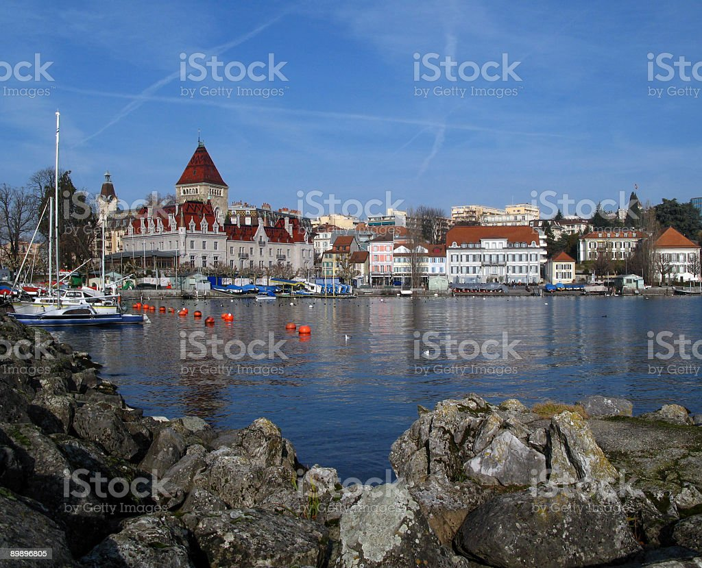 Chateau d'Ouchy 02, Lausanne, Switzerland royalty-free stock photo