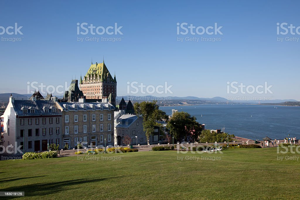Chateau Frontenac and Quebec City, Canada stock photo