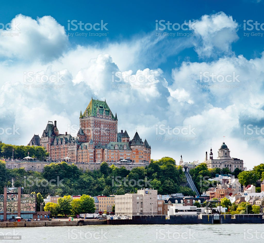 Chateau Frontenac Hotel in Quebec City, Canad stock photo