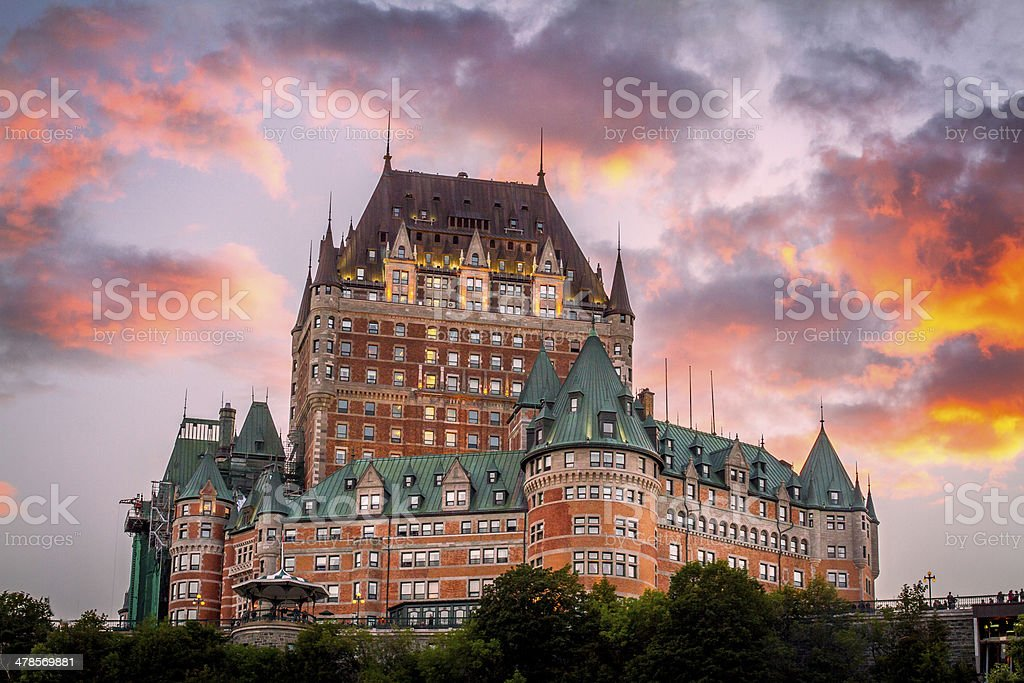 Chateau Frontenac - Quebec City stock photo