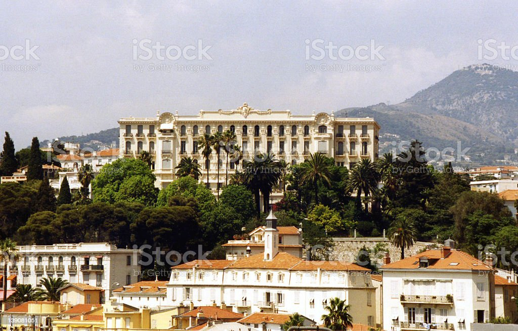 Chateau in Nice royalty-free stock photo