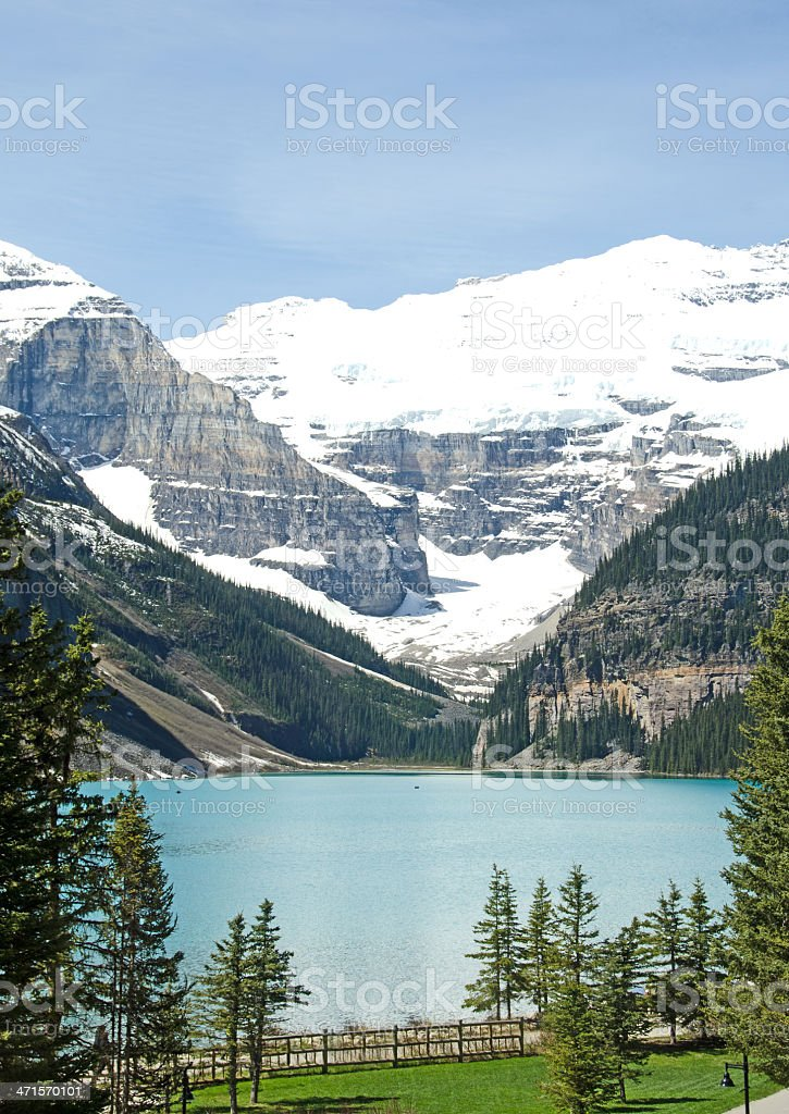 Chateau Lake Louise Room View stock photo