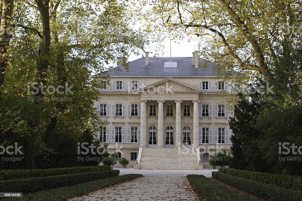 chateau Margaux stock photo