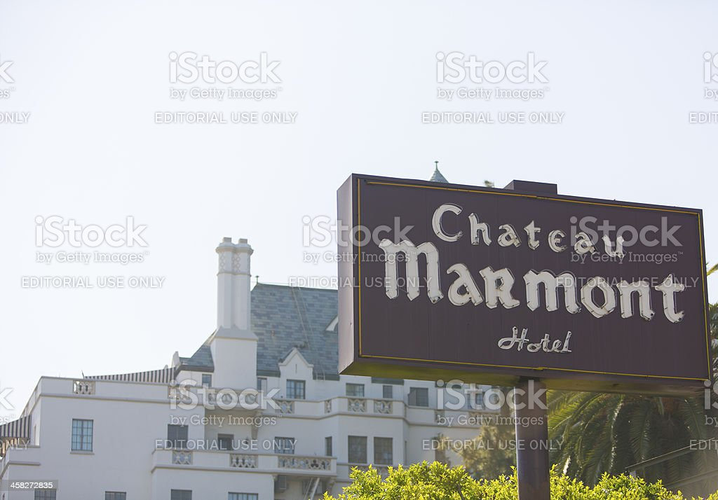 Chateau Marmont royalty-free stock photo