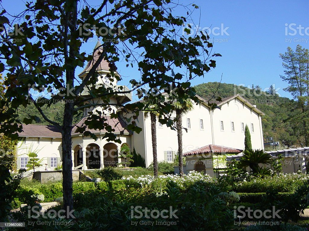 Chateau St Jean  Napa royalty-free stock photo