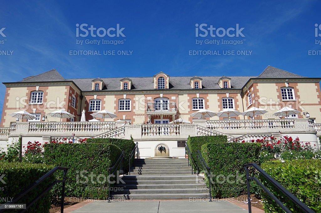 Chateau: Bodega del Valle de Napa, California foto de stock libre de derechos