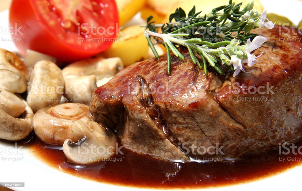 Chateaubriand steak royalty-free stock photo