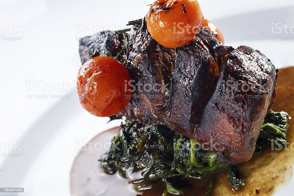 Chateaubriand steak stock photo