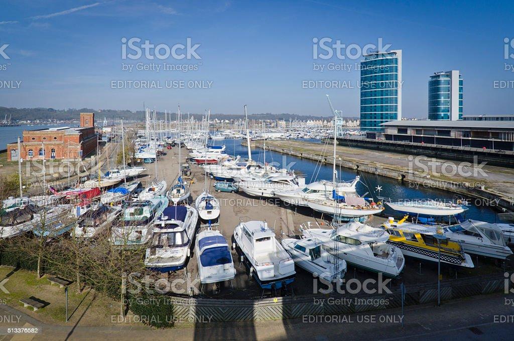 Chatham Boatyard stock photo