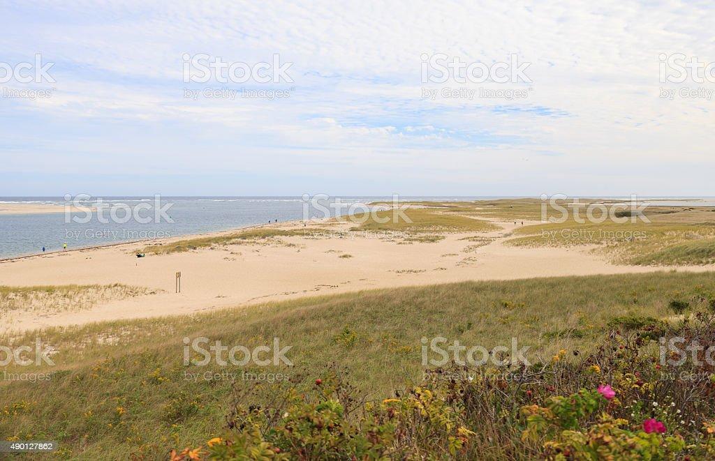 Chatham, Cape Cod beach stock photo