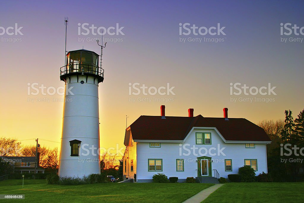 Chatham Lighhouse, Cape Cod stock photo