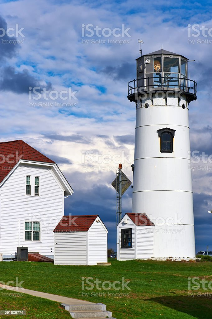 Chatham Lighthouse at Cape Cod stock photo