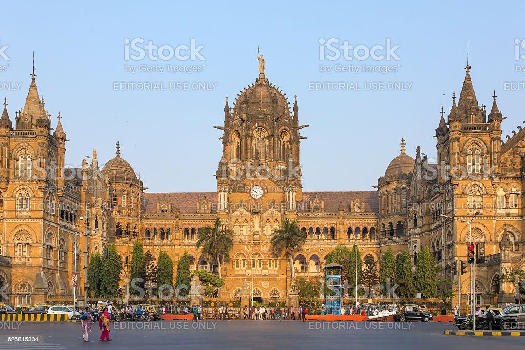 Chatrapati Shivaji Terminus earlier known as Victoria Terminus in Mumbai stock photo