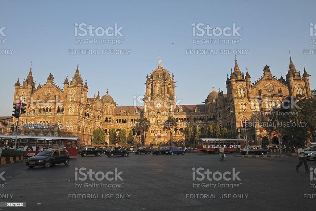 Chatrapati Shivaji Terminus, Mumbai, India (formerly Victoria Terminal) royalty-free stock photo