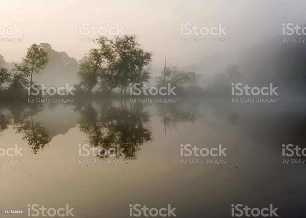 Chattahoochee River early morning royalty-free stock photo