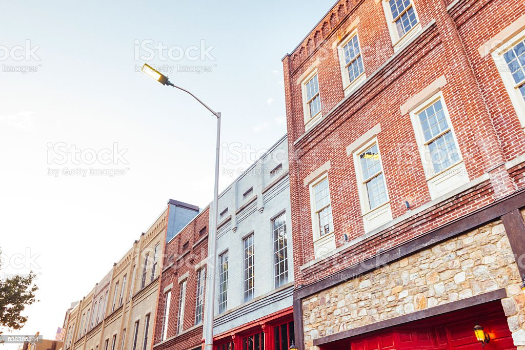 Chattanooga Tennessee Historic Facade Southern Architecture Backgrounds USA stock photo